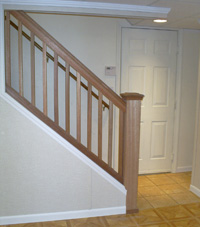 Renovated basement staircase in Taunton