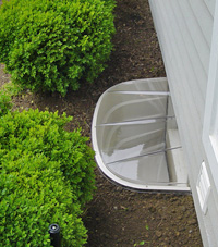 basement egress window well in Providence