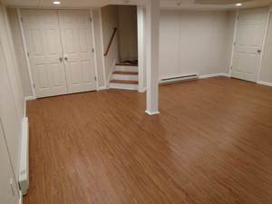 Basement Flooring After in Quincy