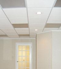 Basement Ceiling Tiles for a project we worked on in Providence, Massachusetts and Rhode Island