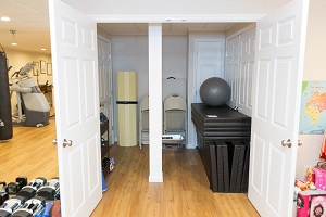 TBF finished basement with home gym in Bridgewater